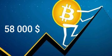 Le Bitcoin arrive sur les 58 000 dollars